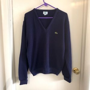 Vintage Lacoste IZOD navy sweater men's L